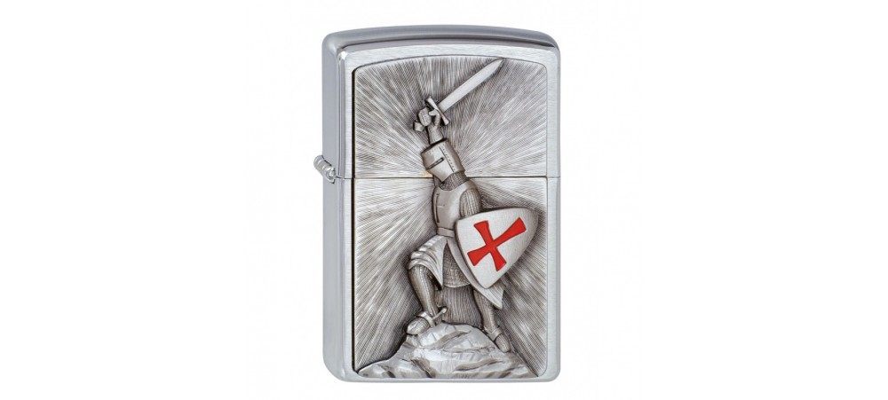 Zippo 1300103 Crusade Victory Emblem Classic Windproof lighter - Brushed Chrome