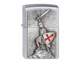 Zippo Crusade Victory Emblem Windproof lighter - Brushed Chrome - 1300103