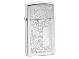 Zippo 1652 Slim Venetian Windproof Lighter - High Polish Chrome