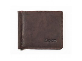 Zippo Bi-Fold Money Clip Wallet - Brown - 2005126