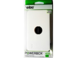 VIBE Dual USB 4000mAh Portable Powerbank