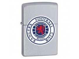 Zippo 205GRFC Glasgow Rangers Football Club Official Crest Lighter - Satin Chrome