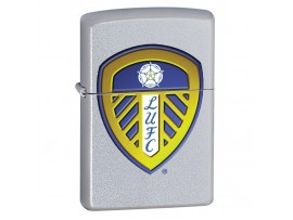 Zippo 205LEEDS Leeds United Football Club Official Printed Crest Windproof Lighter - Satin Chrome