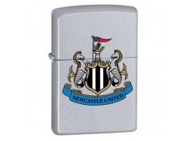 Zippo 205NUFC Newcastle United Football Club Official Crest Windproof Lighter - Satin Chrome
