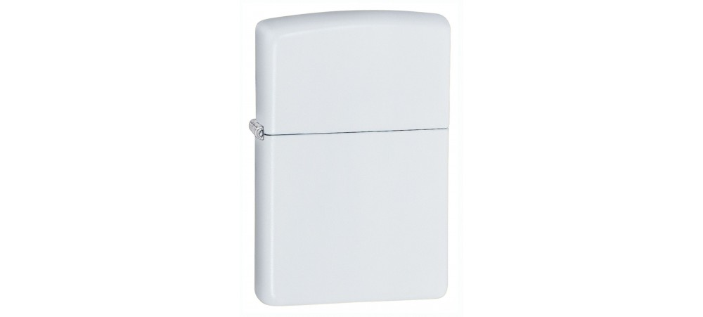 Zippo 214 With or Without Logo Classic Windproof Lighter - White Matte Finish