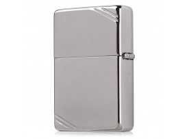 Zippo 260 1935 Vintage with Slashes Windproof Lighter - High Polish Chrome Finish