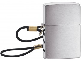 Zippo 275 Lossproof with Loop & Lanyard Classic Windproof Lighter - Brushed Chrome