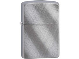 Zippo 28182 Diagonal Weave Classic Windproof Lighter - Brushed Chrome Finish