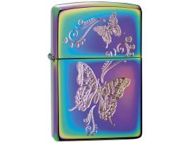 Zippo 28442 Butterflies Classic Windproof Lighter - Spectrum Multi Colour Finish
