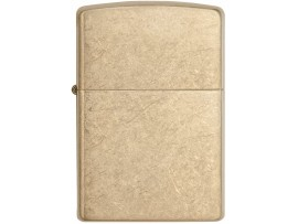 Zippo 28496 Armor Windproof Lighter - Tumbled Brass Finish
