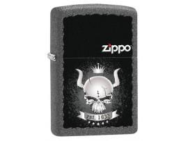 Zippo 28660 Horned Skull Windproof Lighter - Iron Stone