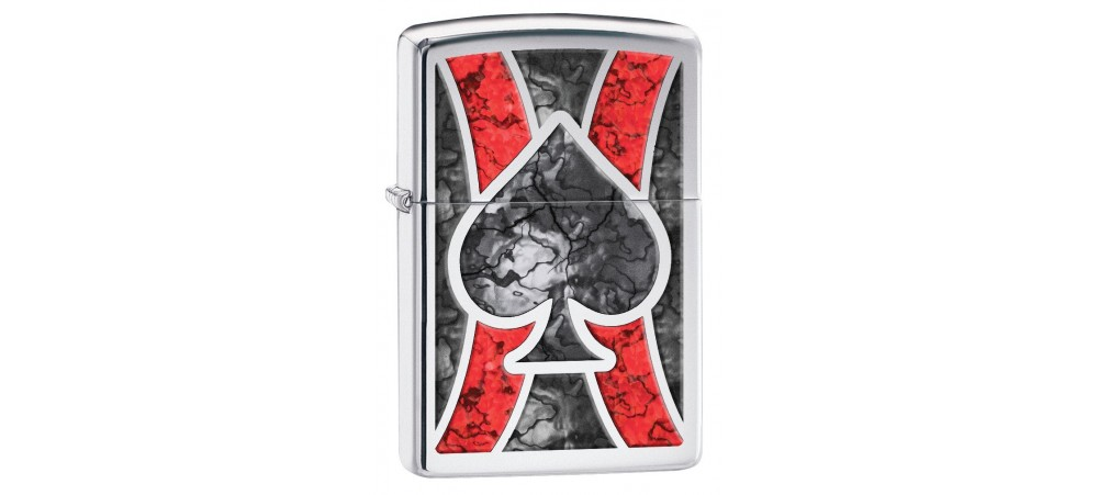 Zippo 28952 Ace Fusion Windproof Lighter - High Polished Chrome