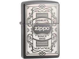 Zippo 29425 Quality Zippo since 1932 Classic Windproof Lighter - Black Ice Finish