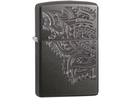 Zippo 29431 Iced Paisley Classic Windproof Lighter - Grey Dusk Finish