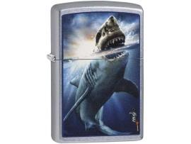 Zippo 29568 Mazzi Vicious Shark Design Classic Windproof Lighter - Street Chrome Finish