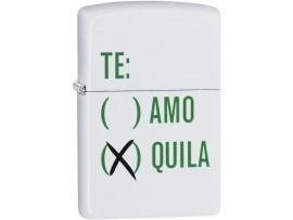 Zippo 29617 Tequila Classic Windproof Lighter - White Matte Finish