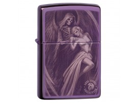 Zippo 29717 Anne Stokes Angel of Death (Dance with Death) Classics Windproof Lighter - High Polish Purple Finish