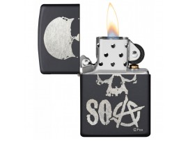 Zippo 29891 Sons of Anarchy™ Skull Classic Windproof Lighter - Black Matte Finish