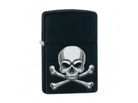 Zippo Limited Edition Skull Crossbones Windproof Lighter - Black Matte - 29917