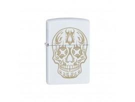 Zippo Limited Edition Sugar Skull Windproof Lighter - White Matte - 29922 / 60004695