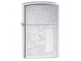 Zippo 352 Venetian® Classic Windproof Lighter - High Polish Chrome Finish
