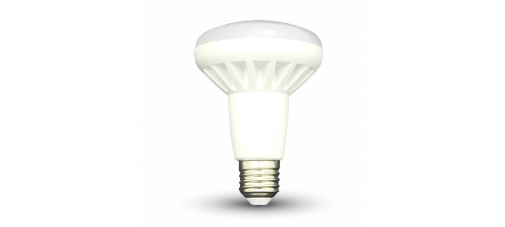 E27 Edison Screw 10W LED 6000k R80 Series Daylight Bulb - V-TAC - 1 / 5 / 10 Bulbs
