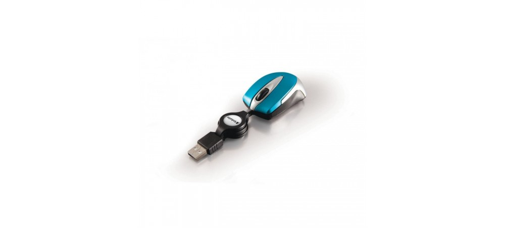 GO MINI Optical Mini Travel Mouse - Verbatim -  Caribbean Blue - 49022