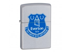 Zippo 60000385 Everton Football Club Official Printed Crest Windproof Lighter - Satin Chrome