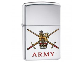 Zippo 60003639 British Army Classic Windproof Lighter - High Polish Chrome Finish