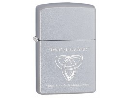Zippo 60003653 Trinity Love Knot (Eternal Life) Classic Windproof Lighter - Satin Chrome Finish