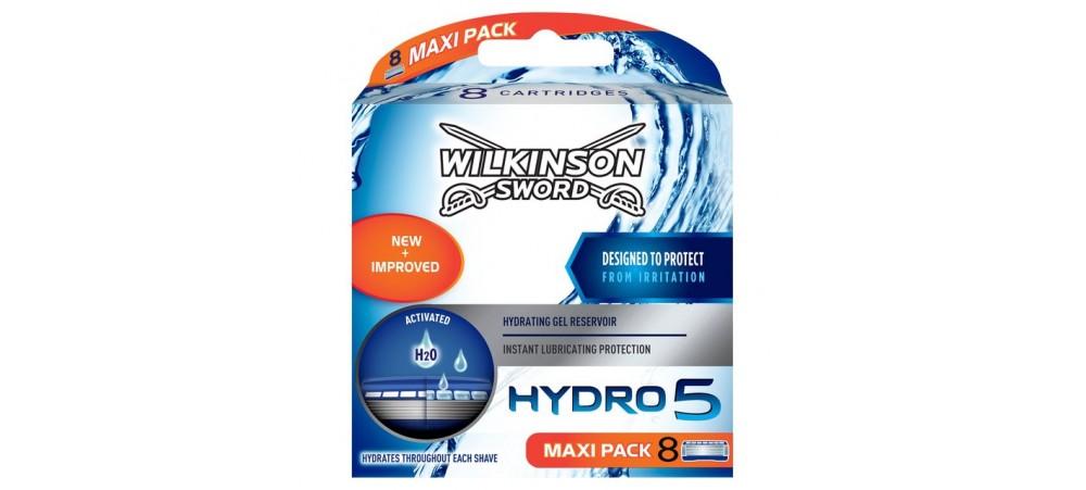 Hydro 5 Razor Blades by Wilkinson Sword- Pack of 4 / 8 Cartridges