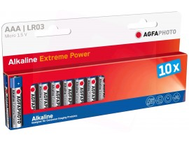 Agfaphoto AAA Platinum Extreme Alkaline Batteries - 10 Pack