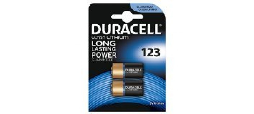 Duracell 123 Ultra Lithium Batteries - 2 Pack