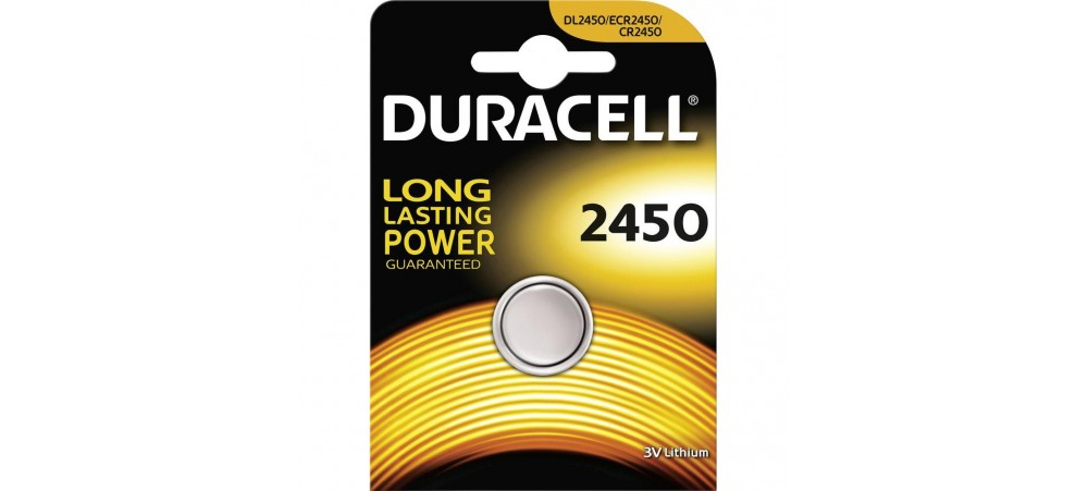 Duracell Car Battery Review >> Duracell CR2450 3V Lithium Battery