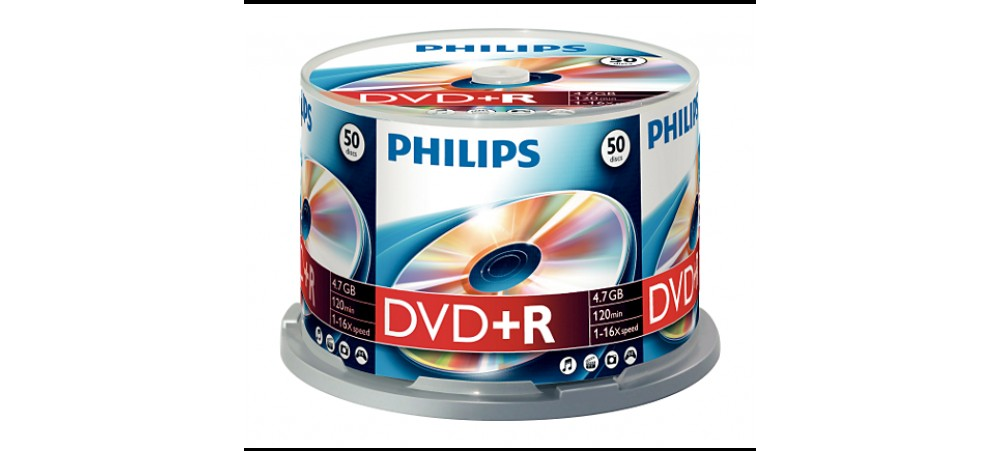 Philips DVD+R 16X 4.7GB - 50 Pack Spindle