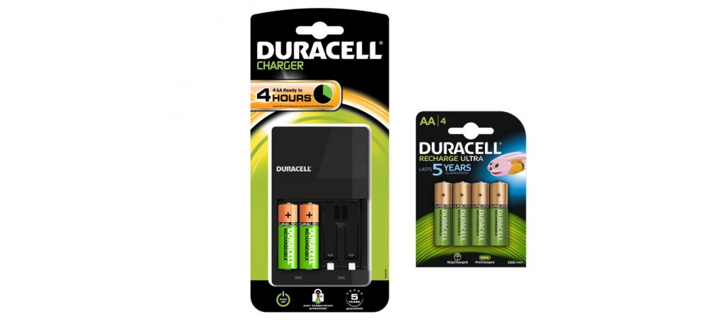 duracell cef14 battery charger with 2 aa standard 4 aa. Black Bedroom Furniture Sets. Home Design Ideas