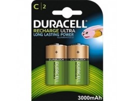 Duracell C Size 3000mAh Rechargeable Batteries  - 2 Pack
