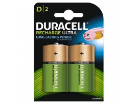 Duracell  D Size 3000mAh Rechargeable Batteries - 2 Pack