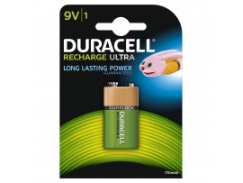 Duracell 9V 170mAh Rechargeable Battery 1 Pack