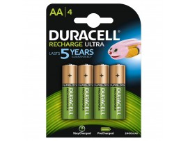 Duracell AA 2500mAh Rechargeable Batteries - 4 Pack