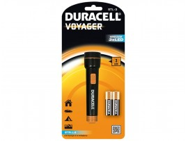 Duracell Voyager STL-3 3 LED Plastic Torch with 2 AA Batteries