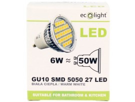 GU10 6W / 50W 400 Lumens Warm White LED Bulb