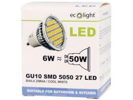 GU10 6W / 50W 400 Lumens Cool White LED Bulb