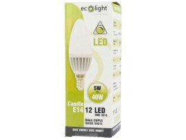 Candle 5W E14 / SES Dimmable LED Warm White 440 Lumens