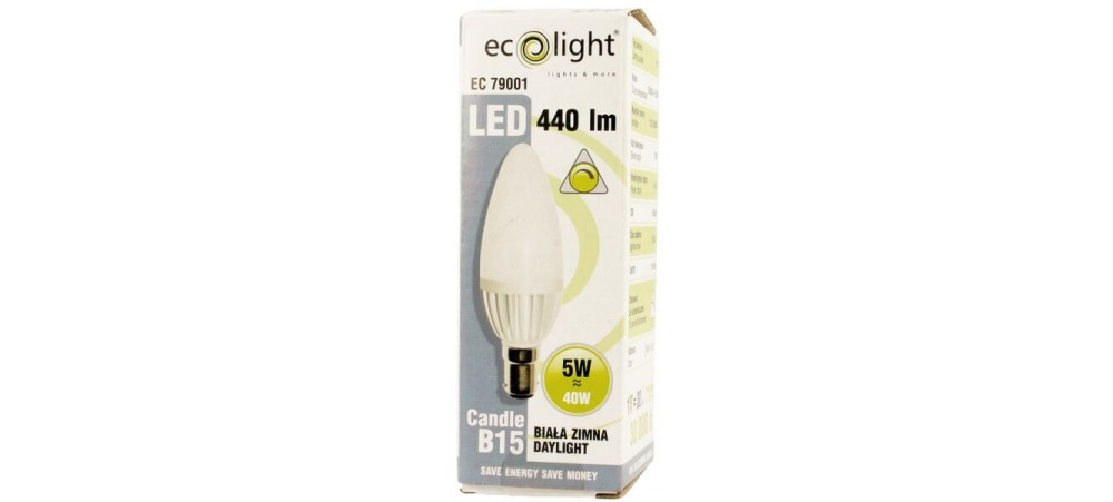 CANDLE 5W B15 / SBC Daylight 440 Lumens Dimmable LED