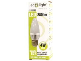 Candle E27 / ES 4W 280 Lumens Warm White Frosted LED Bulb