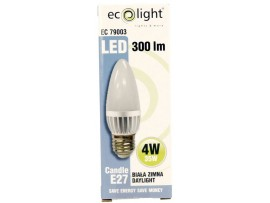 Candle E27 / ES 4W 300 Lumens Daylight Frosted LED Bulb