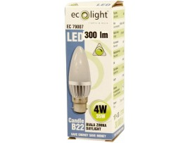 Candle 4W B22 / BC 300 Lumens Dimmable Daylight LED Bulb