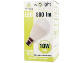 GLS 10W B22 / BC 880 Lumens Warm White Dimmable LED Bulb