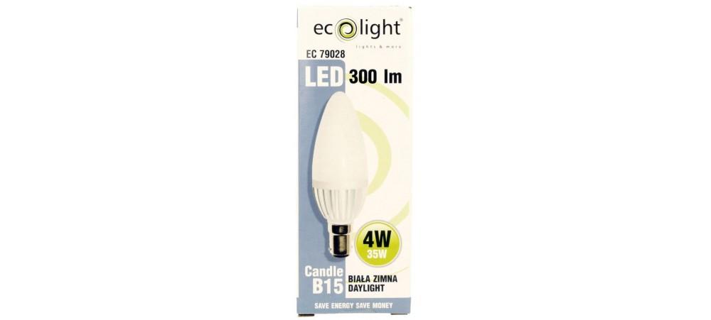 Candle B15 SBC 4W 300 Lumens Daylight Frosted LED Bulb